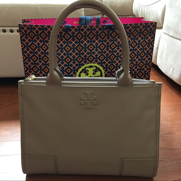 bed67d99f18d Tory Burch Ella Canvas leather tote
